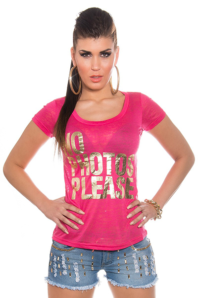 Roupa T-Shirt NO PHOTOS